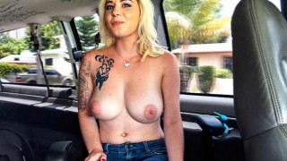 Sexy blonde fucked on the Bangbus