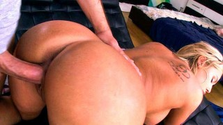 Fat pussy gets a cream pie