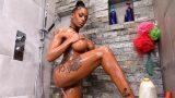 Shower With Sexy Ebony Stepdaugher